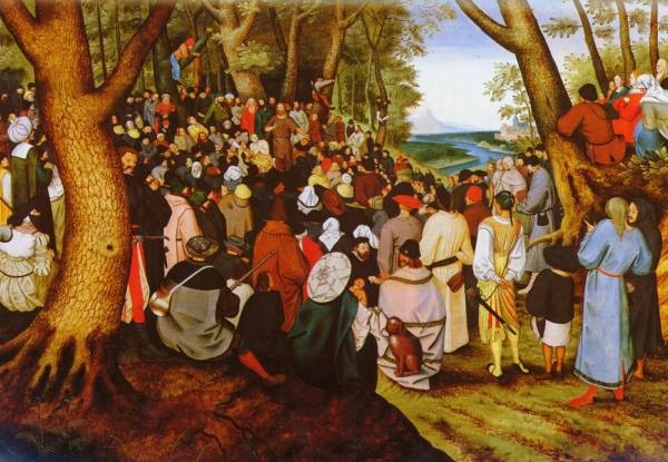 1564 to 1638 A LandScape With Saint John The Baptist Praching O P 113 by 163cm